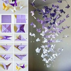 DIY Butterfly Wall Art diy craft crafts home decor easy crafts diy ideas diy crafts crafty diy decor craft decorations how to home crafts origami tutorials - Home Decors Kids Crafts, Easy Diy Crafts, Decor Crafts, Home Crafts, Homemade Crafts, Kids Diy, Simple Crafts, Simple Art, Super Simple