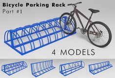 Bicycle Parking Rack - Part Model available on Turbo Squid, the world's leading provider of digital models for visualization, films, television, and games. Bike Parking Rack, Bicycle Rack, Bike Storage Rack, Eagle Project, Parking Design, Cool Designs, Garage, Unique, Places