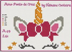 Cross Stitch Horse, Unicorn Cross Stitch Pattern, Cross Stitch For Kids, Mini Cross Stitch, Cross Stitch Alphabet, Cross Stitch Charts, Cross Stitch Designs, Cross Stitch Patterns, Cross Stitching