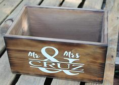 Items similar to Wedding card box - rustic Programs box - wood Mr & Mrs Rustic card holder - Wooden card box - Personalized wedding box - Centerpiece Box on Etsy Rustic Card Box Wedding, Wedding Boxes, Wedding Card, Personalised Box, Personalized Wedding, Country Barn Weddings, Rustic Weddings, Wooden Card Box, Card Boxes