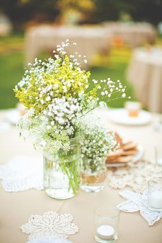 baby's breath centerpiece green - Google Search