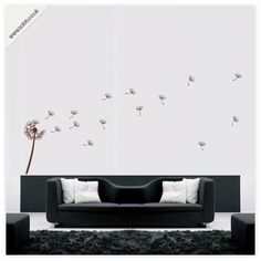 Shoply.com -Dandelion vinyl wall sticker - (weeded and application tape applied). Only £12.99