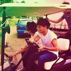 Harry and Louis meets golf buggy