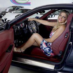 """#Bionda al volante..."" @ferrarimotorsport @scuderiaferrari  #Ferrari #francescacipriani #bollicinevip #blonde #auto #torino #ferrari458italia #ferrariworld #followme #cargirl  #ferrarigirl"