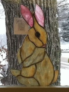 stained glass rabbit - Google Search #StainedGlasses