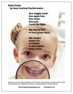 Pomelo Books | Publisher of The Poetry Friday Anthology Series: May 2014 free printable: Baby Tooth poem by Amy Ludwig VanDerwater