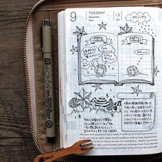 RYO @amidwinternd 2014-12-09 いつ...Instagram photo | Websta (Webstagram) Sketch Journal, Journal Layout, Journal Notebook, Journal Pages, Filofax, Smash Book, Ap 12, Organization Bullet Journal, Calendar Pages