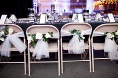 Do-It-Yourself Wedding Chair Decorations | Make a Quick DIY Chair Cover Option for the Wedding » Custom Flowers ...