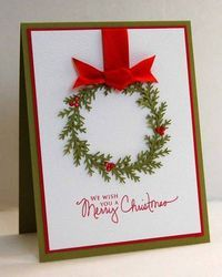 simple homemade christms cards   ... to: Lovely simple design on a handmade Christmas card - Juxtapost