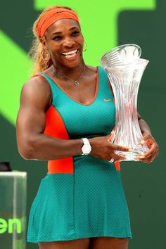 Queen of Miami!  World No.1 Serena Williams captures a 7th Sony Open Tennis title with a 75 61 win over Li Na.