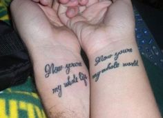 I love it Top 74 Couple Tattoos for Love Birds