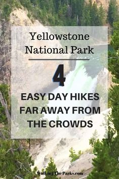 Skip the Mobs: 4 Easy Uncrowded Yellowstone Hikes - Walking The Parks - Summer Bucket List Yellowstone Hikes, Yellowstone Vacation, Yellowstone National Park, Wyoming Vacation, National Park Passport, National Park Tours, Us National Parks, Alaska Travel, Alaska Cruise