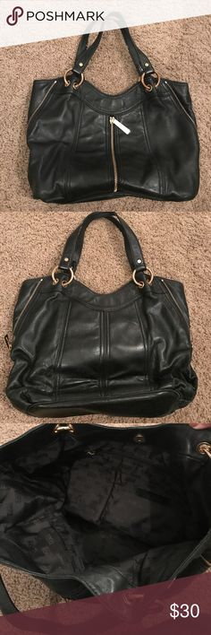 Michael Kors Black Leather Bag Soft black leather Michael Kors Bags Shoulder Bags