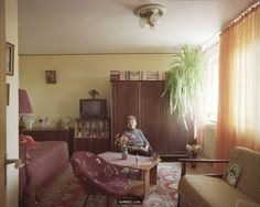 Romanian photographer Bogdan Gîrbovan, chose one typical ten-story apartment block in Bucharest at random for a photography project. Its inhabitants live in Tiny Studio Apartments, Hits Close To Home, Inside A House, First Apartment, My New Room, Unique Furniture, Living Spaces, Flooring, Design