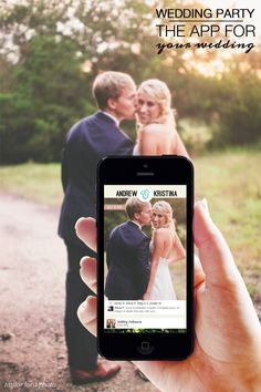 The wedding party app is a must have for any type of wedding, it allows guests to share each others photos. While the bride and groom have a memory lane for ever right at the tip of their fingers! With an easy to use set up get pinning your photos today!