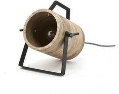 Tafellamp Scotty - Zwart - Metaal/Hout - By-Boo