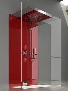 Minimalistyczne kabiny prysznicowe