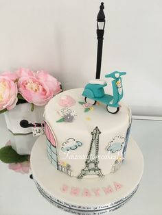 Paris themed birthday cake!
