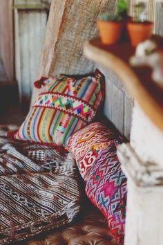 colorful boho decorative throw pillows | home decor + decorating ideas