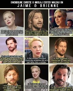 Gwendoline and Nicolaj speaking about Jaime and Brienne :3, just some shippy fun