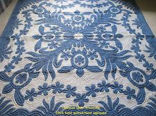 BEDSPREAD/WALL HANGING Hawaiian Quilt 100% hand quilted/appliqued HANDMADE 80""