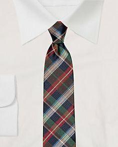 Plaid Silk Tie #AberdeenMall #LeChateau