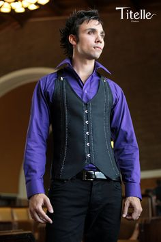 Made to order TITELLE men corset like a jacket with suspenders by TitelleCouture, $340.00