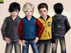 College Jacket for Boys by Lillka - Sims 3 Downloads CC Caboodle