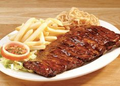 View the mouthwatering menu of Spur family & kids restaurants, it includes delicious starters, meals for sharing, steaks, ribs & more. People with a taste for life. Spare Ribs Sauce, Pork Spare Ribs, Pork Ribs, Bbq Ribs, Spareribs Recipe, My Favorite Food, Favorite Recipes, Rib Sauce, Meat Platter