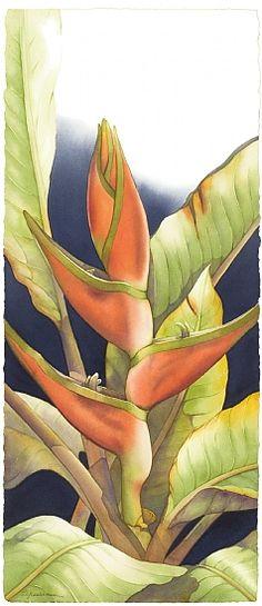 Celebrating Paradise #3 by Barbara Groenteman Watercolor ~ x