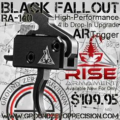 Rise Armament Black Fallout RA-140 Precision Drop-In AR Trigger - $109.95