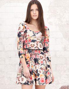 Stradivarius floral print dress