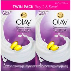 Olay Age Defying Beauty Bars, 3.17 oz, 6 count, (Pack of 2) #Olay