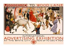 a custom reproduction of a print created in the 1930s as a travel poster for for the London Underground - Tube