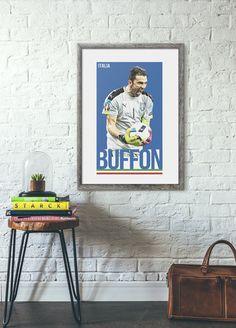 buffon italia poster football prints gigi buffon goalkeeper