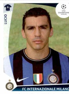 #Lucio 2009-10 Milan Football, Player Card, Champions League, Stickers, Baseball Cards, Board, Trading Cards, Soccer, Europe