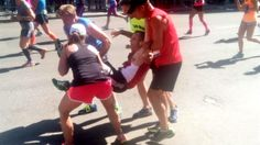 An 'awesome moment': Boston Marathoners carry runner to the finish line