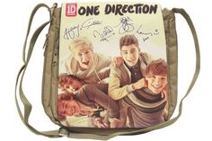 Vintage One Direction Canvas Medium Shoulder bag / Cross Body Bag, Brown One Direction Gifts, One Direction Merch, I Love One Direction, Harry Styles Pictures, Bullet Journal Ideas Pages, Cute Bags, Computer Accessories, Cross Body, Gym Bag