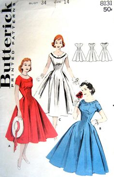 50's dress, 3/4 sleeves, lower cleavage in a rich deep red , made out of jersey fabric, that would be my idea for my wedding dress