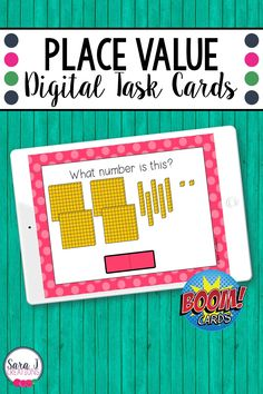 Make digital learning fun with these engaging, no prep Place Value Overview (skip counting, expanded form, comparing numbers, base ten blocks) Boom Cards. These digital task cards are perfect for remote learning but can also be used in a traditional classroom on devices such as ipads, tables, Chromebooks, smartboards, and more. Designed for 2nd grade, these place value task cards include numbers up to 1,000. Fun Learning, Learning Activities, Teaching Place Values, Place Value Activities, Base Ten Blocks, Expanded Form, Comparing Numbers, Class Games, Tens And Ones