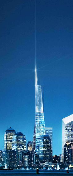 See archival plans for 1 World Trade Center and how it fit into the Master Plan for Ground Zero. Was the designed skyscraper built as planned? Glass Building, Building Design, The Freedom Tower, One World Trade Center, Amazing Architecture, Continents, First World, San Francisco Skyline, New York City
