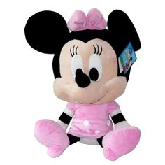 Minnie's smile is so big because the Minnie Mouse Plush is crafted from the softest plush ever. Cute as always in her pink polka dot Mickey Mouse Clubhouse dress, bow and heels, it is a sweet softy and cuddly toy. Bring home Minnie as the best companion for your little princess.