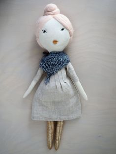 Doll one of a kind doll retro doll/ Clémentine by lespetitesmainsS