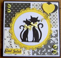 Good luck I want this card to participate in the challenge at Mari . - Good luck I want this card to take part in the challenge at Marianne& Design Divas. Scrapbooking Chat, Dog Cards Handmade, Marianne Design Cards, Atc Cards, Wedding Anniversary Cards, Animal Cards, Pretty Cards, Halloween Cards, Flower Cards