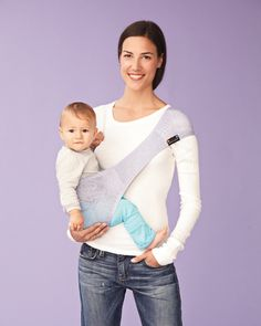 SUPPORI Sling: Compact, and made of stretchy fabric that grows with your baby, up to 28 lbs.
