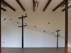 Birds on a wire wall decal / adhesivos decorativos