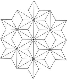 Printable Geometric Coloring Pages. Welcome to the geometric coloring pages! What do you know about geometric? Actually, it is a branch of mathematics that is c Geometric Patterns, Geometric Star, Geometric Drawing, Geometric Designs, Star Designs, Geometric Tattoos, Geometric Shapes Design, Geometric Sleeve, Geometric Mandala