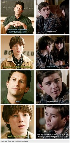 Supernatural - [4x13 After School Special and 9x07 Bad Boys - SET OF GIFS] - Sam and Dean and the Family Business