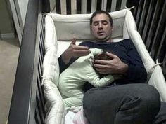 Baby gets Dad into crib
