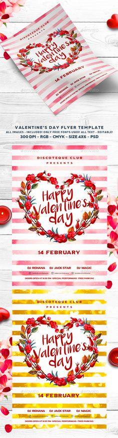 Valentine Flyer Template PSD #design Download: http://graphicriver.net/item/valentine-flyer/14278998?ref=ksioks